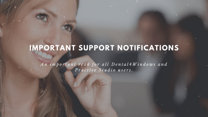 Important Support Notifications